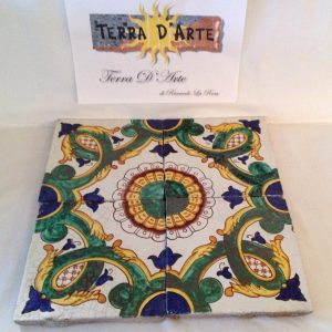 Mattonelle decorate a mano (cod.: TD261PA) - TERRA D'ARTE