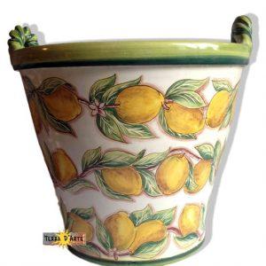 Cachepot - serie Vaso Limoni - TERRA D'ARTE