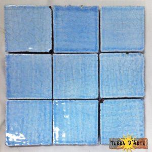 Mattonelle fondo azzurro - TERRA D'ARTE