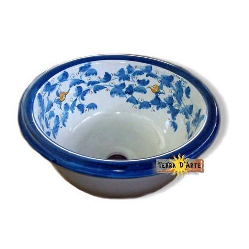Lavello Ornato in ceramica decorata a mano