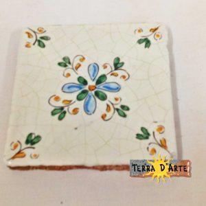 mattonelle decorata a mano in cotto siciliano - TERRA D'ARTE