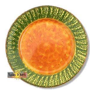 Piatto Frutta Verde - Serie Sole - TERRA D'ARTE