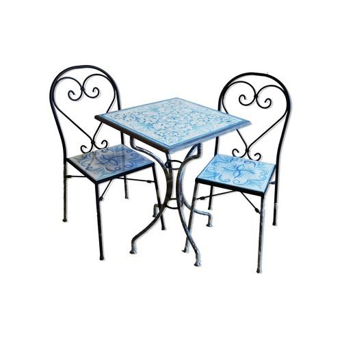 Tavoli in Pietra Lavica Decorati a Mano