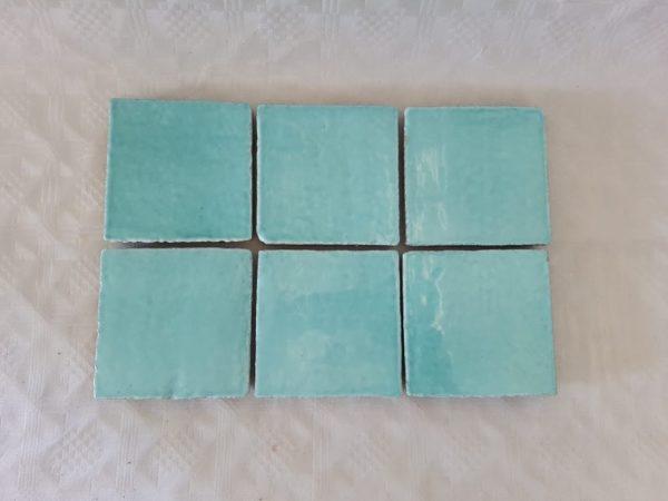 fondo colorato Verde Marino ceramica colorata a mano made in sicily